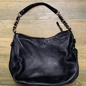 Kate Spade Black Pebble Leather Shoulder Hadbag